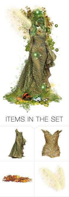 """""""Green Faery """" Summer Faery Masquerade Ball """""""" by girlinthebigbox ❤ liked on Polyvore featuring art, dance, Masquerade, fairy and ball"""
