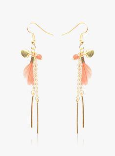 Diva Walk Gold-Toned Geometric Drop Earrings-Onesize-Gold