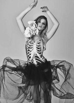 Halloween costume idea: Spooky and enigmatic skeleton ballerina