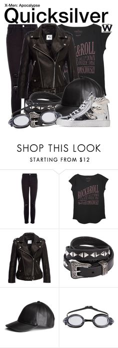 """""""X-Men Apocalypse"""" by wearwhatyouwatch ❤ liked on Polyvore featuring J Brand, The Vintees T-Shirts Co., Anine Bing, Yves Saint Laurent, H&M, Finis, Giuseppe Zanotti, wearwhatyouwatch, film and xmen"""