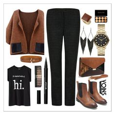 """""""YOINS-Brown Cardigan"""" by yoinscollection ❤ liked on Polyvore featuring Dorothy Perkins, GUESS, Marc by Marc Jacobs, Stila, Chicnova Fashion, Fall, MustHave, autumn, autumnstyle and yoins"""