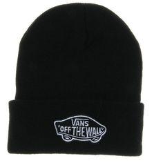 Black Vans Off The Wall Winter Beanies Truck Cap Knit Hat Unisex Plain Warm  Soft Beanie 3b11f1a8b66