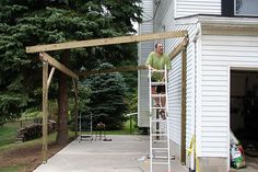 Pergola Attached To House Roof Referral: 6811344552