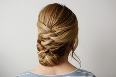 You honestly won't believe how easy this updo is to recreate. It looks like a complicated woven style but each piece is simply two sections tied together, one right after the next, to create a really cool criss-cross effect. I lovewhen styles like this come…