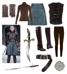 """Arya Stark Costume"" by elysse-florence-bennett on Polyvore featuring COSTUME NATIONAL, WearAll, Gabriela Hearst, Hogan, Dorothee Schumacher, 2028 and Brooks Brothers"