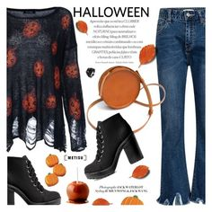 """""""Halloween Style"""" by metisu-fashion ❤ liked on Polyvore featuring Sara Barner, H&M, polyvoreeditorial, polyvoreset and metisu"""