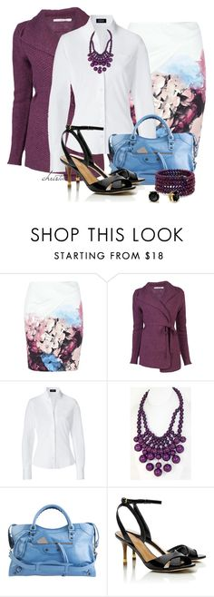 """""""Style the Necklace"""" by christa72 ❤ liked on Polyvore featuring SHAN, Cotélac, Steffen Schraut, Balenciaga, Tory Burch, MOOD and Kate Spade"""