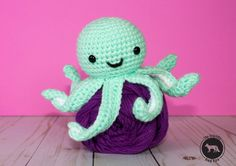 This mini crochet octopus is such a sweet little thing! Just a couple of inches tall but with so much personality, and of course those awe...