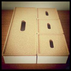 Ikea Kvissle boxes.