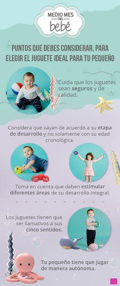 Tips para escoger el juguete ideal para tu pequeño. #MedioMesDelBebé