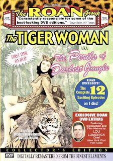Carteles del cinema: 1944 - LA MUJER TIGRE - The Tiger Woman / Perils of the Darkest Jungle - Spencer Gordon Bennett, Wallace Grissell