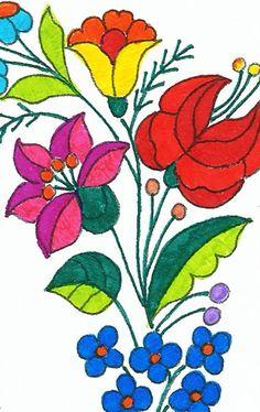 A Csodálatos kalocsai - Színező könyvből kiszínezett részlet ▶️ http://szinezokonyv.hu/termek/szinezo-konyv-varga-iren-csodalatos-kalocsai/
