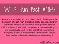 can be a result of your parents behavior - WTF fun. (WTF Facts : funny & weird facts) Anxiety can be a result of your parents behavior - WTF fun.Anxiety can be a result of your parents behavior - WTF fun. The More You Know, Good To Know, Funny Weird Facts, Fun Funny, Random Facts, Crazy Facts, Love Facts, Amazing Facts, Funny Interesting Facts