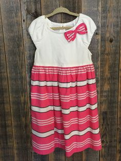 Gymboree Pink and White Dress - Size 5