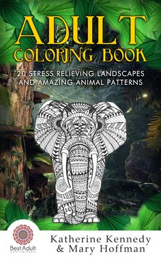 Our first adult coloring book is finished! With great animal and landscape designs for the adults who color! Get it free on kindle and check it out!