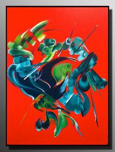 peinture abstraite Volcan du coeur
