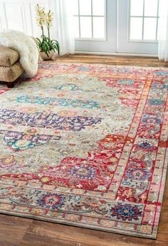 The first persian rugs were brightly colored