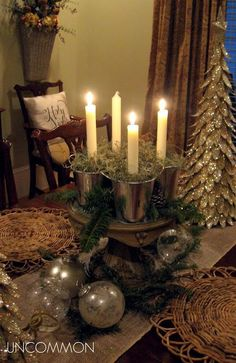 A Season to Reflect, Remember, and Rejoice – Uncommon Designs… – OMG – WTF All Things Christmas, Christmas Crafts, Christmas Decorations, Table Decorations, Xmas, Christmas Ideas, Merry Christmas, Centerpieces, Christmas Inspiration
