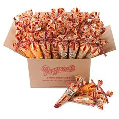 Popcornopolis® Mini Cone Assortment 48-pack.   We could do this instead of open packages! What do you think? We can order them from Costco.