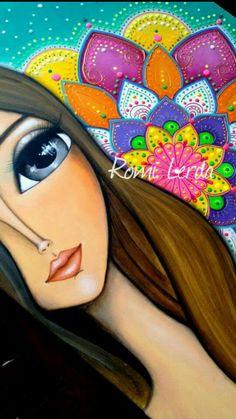 Paintings I Love, Indian Paintings, Little Girl Drawing, Acrilic Paintings, Duck Art, Goddess Art, Learn Art, Mexican Art, Angel Art