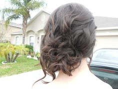 My hair for Military Ball