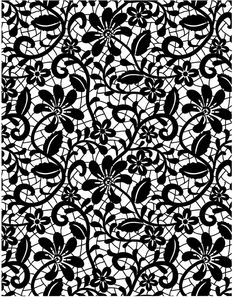 lace from your wedding dress  Antique lace - Rubber Stamps