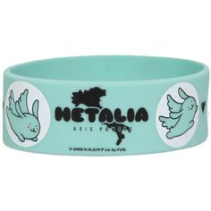 Hetalia: Axis Powers Youseisan Rubber Bracelet | Hot Topic ($4.50) ❤ liked on Polyvore featuring jewelry, bracelets, accessories, rubber bracelets, hetalia, bracelet jewelry, rubber bracelet, bracelet bangle, rubber jewelry and rubber bangles