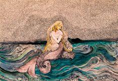 #mermaid #underthesea #drawing #siren #fairy #women #blonde #sea #loneliness