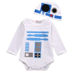 Now available in our store: R2-D2 Baby Romper... Check it out here! http://pickleandpotato.com/products/r2-d2-baby-romper-hat?utm_campaign=social_autopilot&utm_source=pin&utm_medium=pin