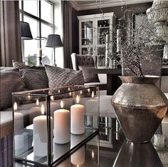 The decor is on fleek! I'd love to have that candle holder on a shelf in my room.