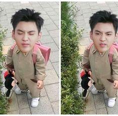 baby wu Meme Faces, Funny Faces, Kris Exo, Troll Face, Wu Yi Fan, Exo Memes, Kpop, Jaebum, My King