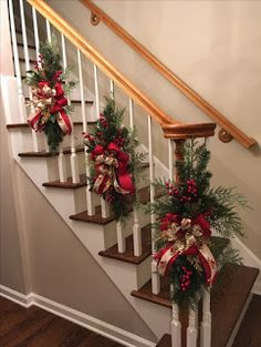 Here are the Christmas Stairs Decoration Ideas. This post about Christmas Stairs Decoration Ideas was posted under the Home Design  Christmas Stairs Decorations, Beautiful Christmas Decorations, Christmas Swags, Outdoor Christmas, Rustic Christmas, Holiday Decor, Christmas Staircase Garland, Natural Christmas, Decorating Banisters For Christmas