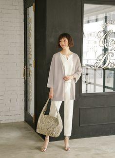 レディースカーディガンファッションコーデ人気ブランド女性服装春夏.jpg (500×690)