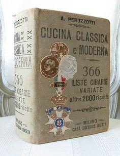 Antique Cookbooks (this one via Paris Hotel Boutique) http://cashonandcompany.blogspot.com/2009/10/instant-farmhouse-dining.html