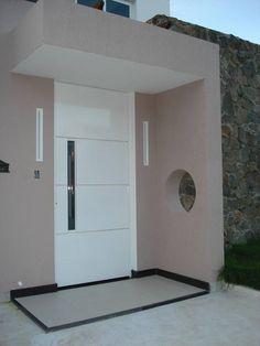 portas de madeira entrada branca com frisos daiane guerreiro