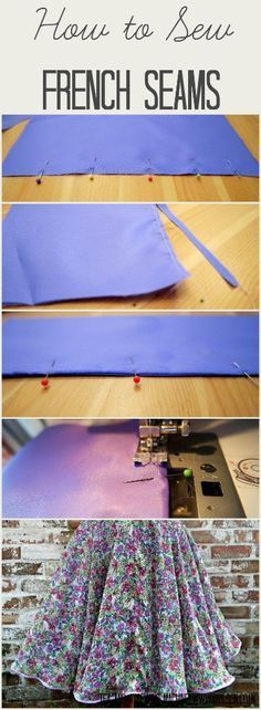 French seams are perfect for finishing seams when you are working with delicate fabrics, and they're easy to do! Find out how in this step by step tutorial. Tea and a Sewing Machine www.awilson.co.uk