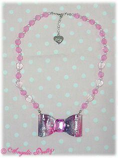 Aurora Ribbon Necklace (Black)