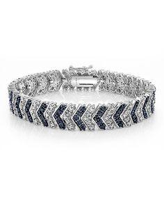 Loving this Blue & White Diamond Chevron Bracelet on #zulily! #zulilyfinds