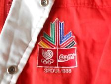 vintage RARE COCA COLA 1988 SUMMER OLYMPICS SEOUL ASTRO WINTER JACKET PUFFY XL