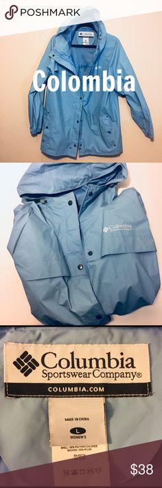 COLUMBIA WOMEN'S RAIN JACKET Excellent condition. Sky blue. Size L. Columbia Jackets & Coats