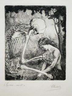 blackpaint20: Luigi Russolo (1885-1947) Caress, Death, 1908/09