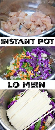 Instant Pot lo mein with chicken is a great dinner for the whole family! Instant Pot lo mein with chicken is a great dinner for the whole family! Soft flavorful noodles with vegetables all in the same bowl for this one pot meal. Best Instant Pot Recipe, Instant Recipes, Instant Pot Dinner Recipes, Instant Pot Meals, Instant Pot Chinese Recipes, Instant Pot Pressure Cooker, Pressure Cooker Recipes, Pressure Pot, Salami Chips