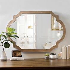Natural Wood Scalloped Mirror from Kirkland's
