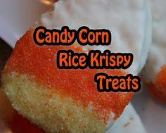 The Disney Diner: Candy Corn Rice Krispy Treats Halloween Recipe