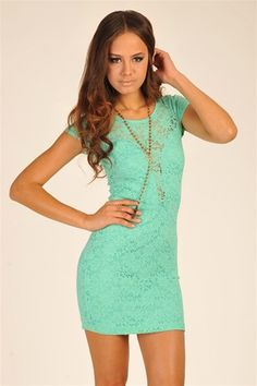 Night Fever Dress - Mint