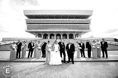 museum wedding, albany, ny, black bridesmaid dresses #weddings #bridalparty