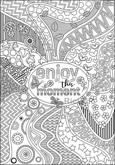 4 Printable Positive Vibes Coloring Pages Spread Good Enjoy Moment Coloringpage
