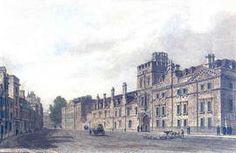 Balliol College - copper engraving after J. le Keux 19th century