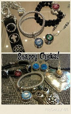 New in store this week! Snappy Chicks interchangeable jewelry line!! Local sports teams and school!!