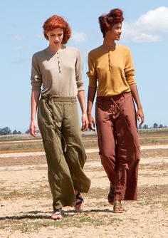 Linen & cotton trousers – SALE - Skirts & trousers – GUDRUN SJÖDÉN – Webshop, mail order and boutiques | Colourful clothes and home textiles in natural materials.